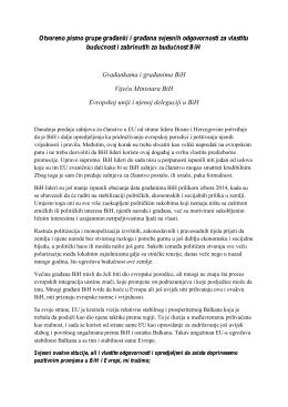 Otvoreno pismo grupe građanki i građana svjesnih
