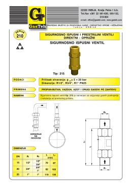 sigurnosno ispusni ventil