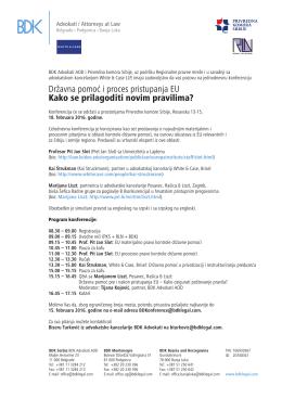 Poziv i program - Privredna komora Srbije
