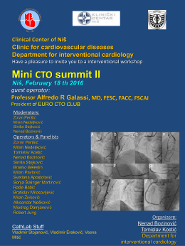 25.01.2016. Mini CTO summit II Niš, February 18 th 2016