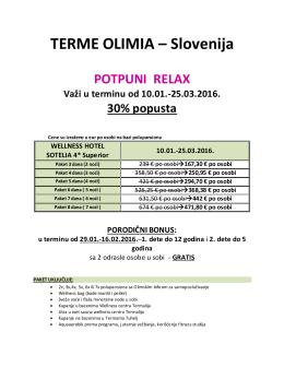 TERME OLIMIA – Slovenija