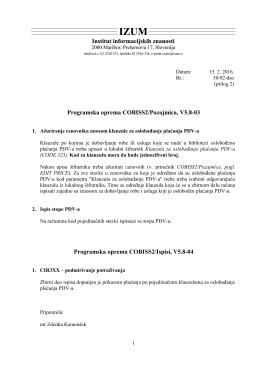 Programska oprema COBISS2/Pozajmica, V5.8
