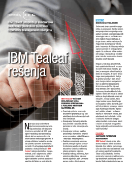 IBM Tealeaf unapređuje elektronsko poslovanje pionirskim - RRC-u