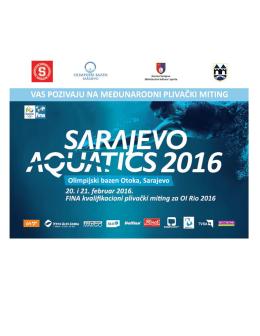 Propozicije i poziv Sarajevo Aquatics Final 2016