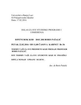 Doc. dr Boris Pašalić