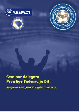 Seminar delegata Prve lige Federacije BiH