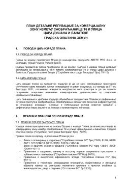 Нацрт плана - Grad Beograd