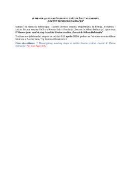 Obaveštenje - Fondacija Docent dr Milena Dalmacija