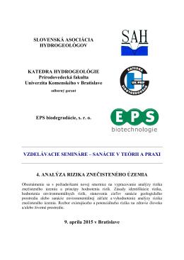 Downloady - SAH - Slovenská asociácia hydrogeológov