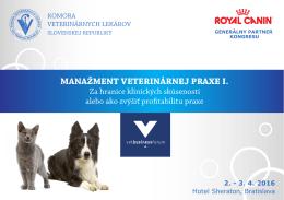 Pozvánka Manažment veterinárnej praxe I.časť