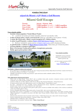 Miami Golf Escape - Miami Golfing Adventure