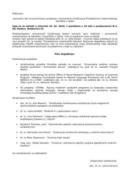 Letak - Prirodoslovno matematički fakultet, Split