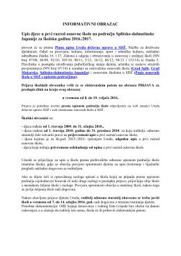 informativni obrazac - Ured državne uprave u Splitsko