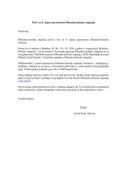 Poziv - Razvojna agencija Šibensko