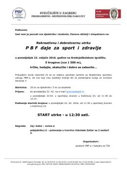 Poziv na utrku PBF za zdravlje i sport v2