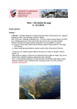 Plan izleta za Istru
