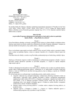 Pravilnik za provedbu programa uklanjanja krovnih