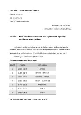 završno kolo Lige Hrvatske u gađanju serijskom zračnom puškom
