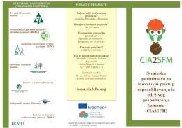 Erasmus+ CIA2SFM brochure