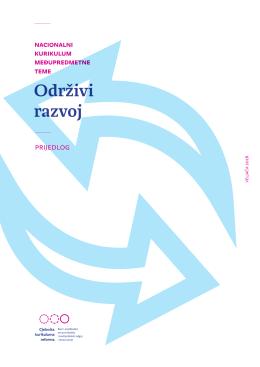 Nacionalni kurikulum međupredmetne teme (Održivi razvoj)