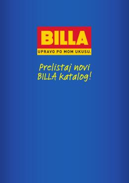 Prelistaj novi BILLA katalog!