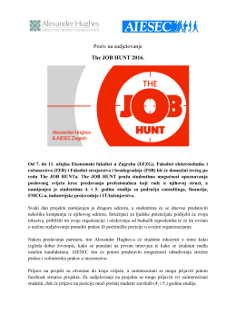 The JOB HUNT 2016.