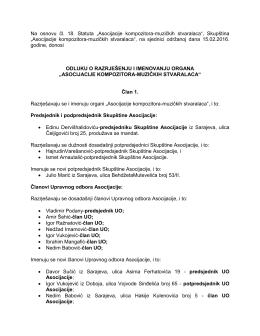 AMUS Odluka o razrjesenju i imenovanju organa