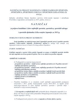 tekst natječaja - Zajednica sportova Ličko senjske županije
