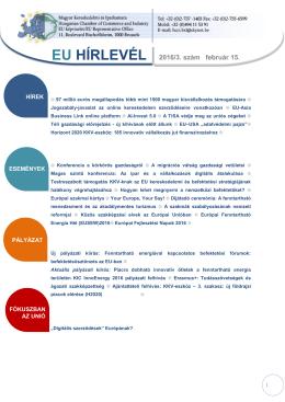MKIK EU Hírlevél_2016. 3.szám__