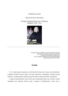 FEHÉR KATALIN Hatvani István és tanítványai Országos