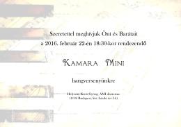 Kamara Mini - Kroó György Zene