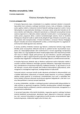 részletes versenykiirása - Fazekas Mihály Fővárosi Gyakorló