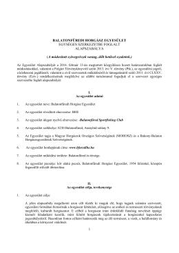 Alapszabályzat - Balatonfüredi Horgász Egyesület