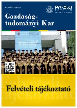 Alapképzés (BA) - Gazdaságtudományi kar