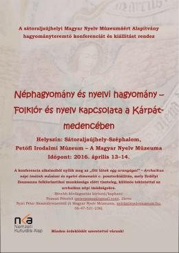 Néphagyomány és nyelvi hagyomány - e