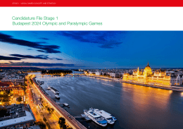 Candidature File Stage 1 Budapest 2024 Olympic and Paralympic