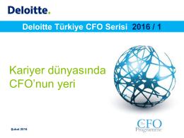 Deloitte Türkiye CFO Serisi 2016 / 1