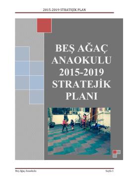 stratejik plan - Beşağaç Montessori Anaokulu