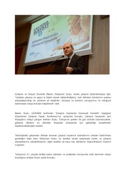 Çalışma ve Sosyal Güvenlik Bakanı Süleyman Soylu