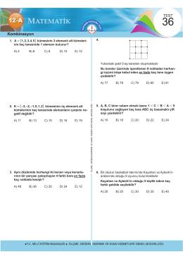 Kombinasyon - Ölçme, Değerlendirme ve Sınav Hizmetleri Genel
