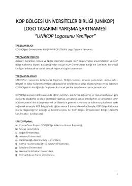 UNİKOP Logosunu Yeniliyor - KOP Bölge Kalkınma İdaresi Başkanlığı