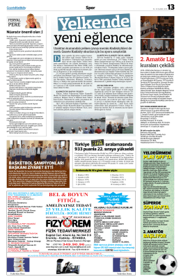 2. Amatör Lig - Gazete Kadıköy