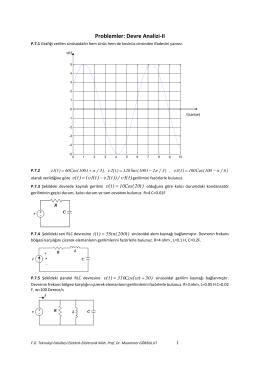 EET-202 Devre Analizi Soruları - Elektrik ve Elektronik Mühendisliği