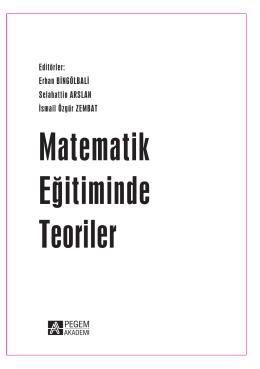 Matematik Eğitiminde Teoriler - Ciltli