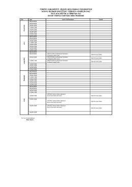 coğrafya bölümü 2011-2012 eğitim öğretim yılı bahar yarıyılı ı