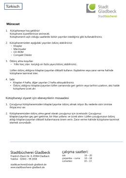 Stadtbücherei Gladbeck çalışma saatleri: Türkisch