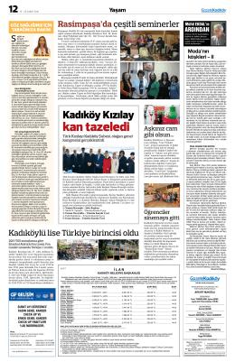 kan tazeledi - Gazete Kadıköy