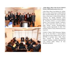 Afrika Dünya Miras Fonu Başkanı ve heyeti UNESCO Türkiye Millî