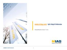 Kayıt kılavuzu - MIAG CV Amsterdam NL
