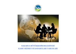 sakarya büyükşehir belediyesi kamu hizmet standartları tabloları
